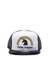 Palm Angels Unicorns Do Exist Cap In Black White Black White