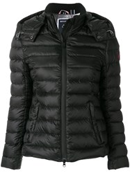 Rossignol Hooded Puffer Jacket Feather Down Acrylic Polyamide Wool Black