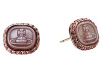 Vivienne Westwood Edith Earrings Pink Mother Of Pearl Light Earring Brown