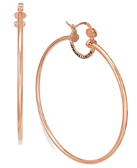 Sis By Simone I Smith Everlasting Love Hoop Earrings In 18K Rose Gold Over Sterling Silver