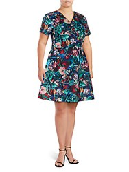 Alexia Admor Floral Print Fit And Flare Dress Multi Floral