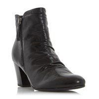 Linea Olana Ruched Buckle Ankle Boots Black