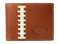 Dooney And Bourke Nfl Leather Wallets Credit Card Billfold Tan Tan 49Ers Credit Card Wallet