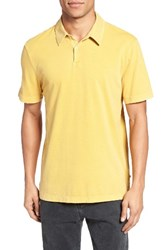 James Perse Men's Trim Fit Sueded Jersey Polo Medallion