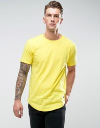 Only And Sons Longline T Shirt With Curved Hem Buttercup Yellow