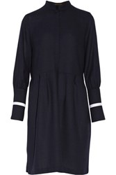Mother Of Pearl Milly Wool Crepe Dress Midnight Blue
