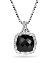David Yurman Pendant With Black Onyx And Diamonds Black Silver