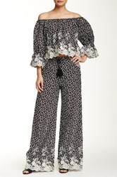 Romeo And Juliet Couture Wide Led Drawstring Pant Black