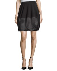 Halston Combo Bubble Skirt Black