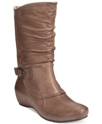 Bare Traps Shelby Hidden Wedge Mid Shaft Boots Women's Shoes Taupe