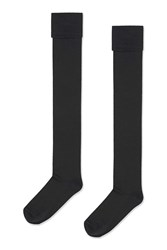 Topshop Black Over The Knee Socks Black