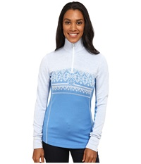 Dale Of Norway Rondane Feminine Sky Blue White Mel Women's Sweater