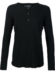 Wings Horns Long Sleeved Henley Cotton M