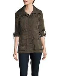 Bcbgeneration Roll Tab Sleeve Utility Jacket Green