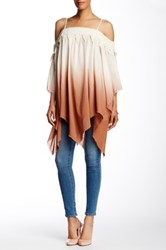 Ryu Dip Dye Cold Shoulder Blouse Orange