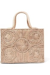 Sophie Anderson Caba Leather Trimmed Raffia Tote Beige