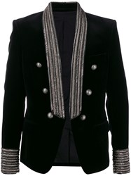 Balmain Chain Trimmed Double Breasted Blazer 60