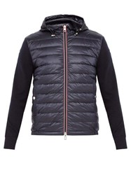 Moncler Down Filled Jersey Sleeve Jacket Navy
