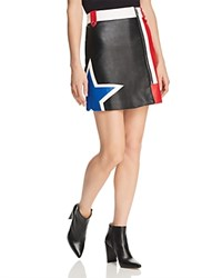 Tommy Jeans Color Block Faux Leather Racing Skirt 100 Exclusive Tommy Black Multi