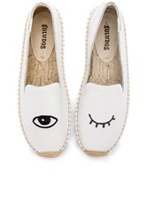 Soludos Embroidered Platform Smoking Slipper White