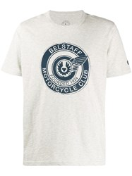 Belstaff Graphic Print T Shirt Grey
