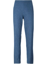 Jil Sander Navy Slim Denim Trousers Blue