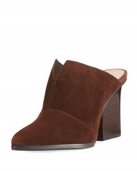 Donald J Pliner Violet Suede High Slide Mule Brown