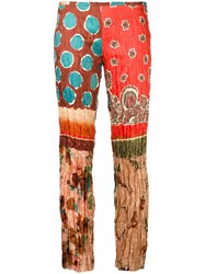 Jean Paul Gaultier Vintage Creased Trousers Multicolour