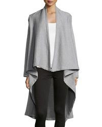 Raison D'etre Draped French Terry Knit Jacket Heather Gr