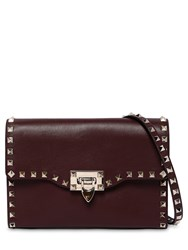 Valentino Garavani Rockstud Embellished Leather Bag Rubin