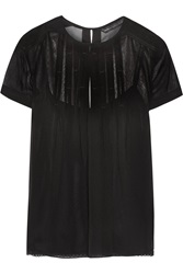 Marc By Marc Jacobs Pleated Silk Georgette Top