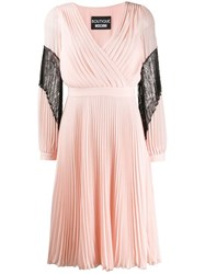 Boutique Moschino Pleated Dress Pink