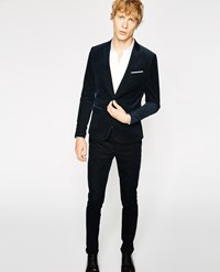The Kooples Navy Blue Needlecord Suit Trousers
