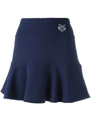 Kenzo Mini Tiger Skater Skirt Blue