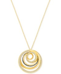 Swarovski Silver Tone Spiral Light And Dark Crystal Pendant Necklace Gold