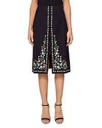 Ted Baker Vicks Hampton Print A Line Skirt Black