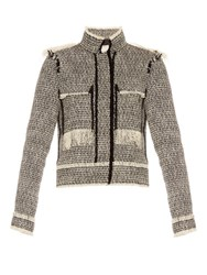Lanvin Bi Colour Tweed Jacket Black White