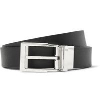 Lanvin 2Cm Black Reversible Leather Belt