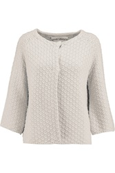 Goat Walker Knitted Cotton Cardigan White