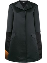Yang Li Cropped Sleeves Coat Black