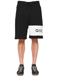 Givenchy Logo Embroidered Jersey Bermuda Shorts Black