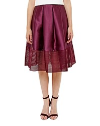 Ted Baker Illusion Hem Full Skirt Deep Purple