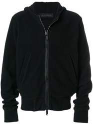Ann Demeulemeester Zipped Hoodie Cotton Nylon Wool M Black