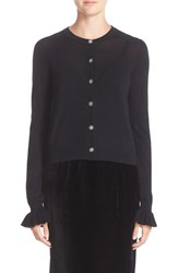 Nordstrom Caroline Issa Women's Signature And Ruffle Sleeve Cashmere Cardigan