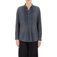 Pas De Calais Pleated Voile Shirt Charcoal