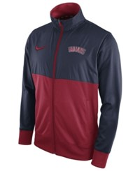 Nike Men's Cleveland Indians Track Jacket Navy Red