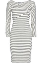 W118 By Walter Baker Woman Denna Ribbed Striped Stretch Jersey Dress Black