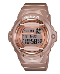 G Shock Baby G Watch Women's Digital Beige Resin Strap 43X46mm Bg169g 4