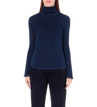 Ag Jeans Octa Cotton Jersey Turtleneck Top Ikd Two