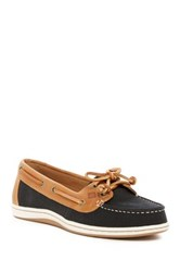 Sperry Firefish Nubby Canvas Boat Shoe Black